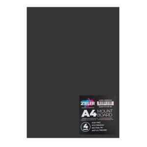 A4 Mount Board - Black (Pack of 4) - Zieler Art Supplies