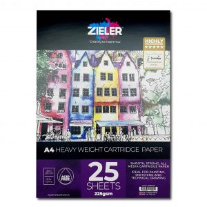 Zieler A4 Heavy Weight Cartridge Paper Pad 225gsm