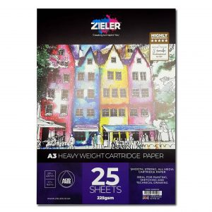 Zieler A3 Heavy Weight Cartridge Paper Pad 225gsm