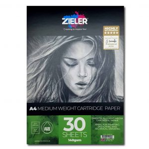 Zieler A4 Medium Weight Cartridge Paper Pad