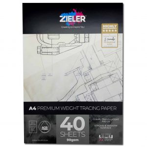 Zieler A4 Tracing Paper Pad 90sgm