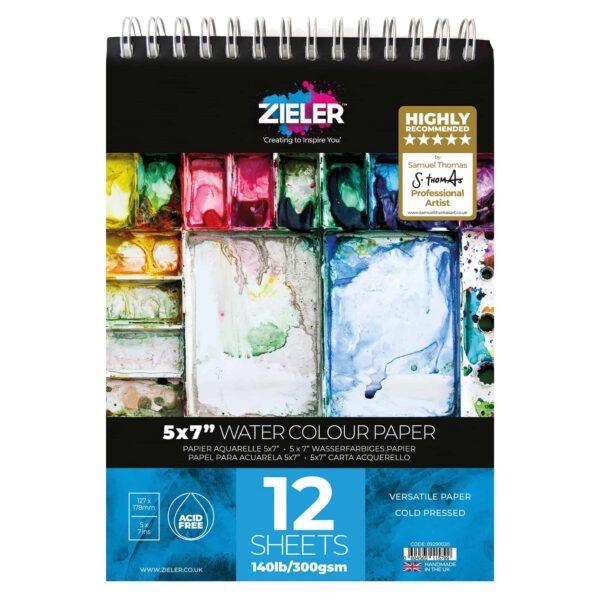 5X7 Watercolour Pad - Zieler Art Supplies