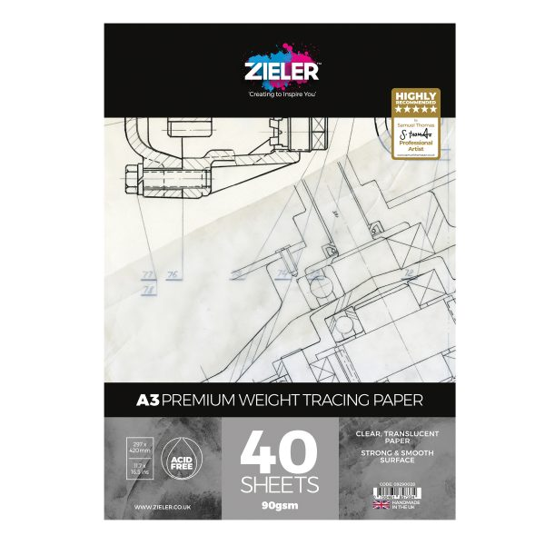 A3 Tracing Paper 90Gsm