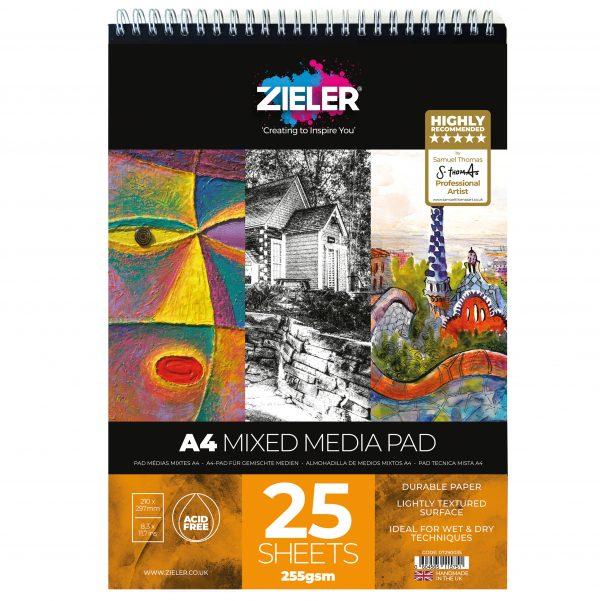 A4 Spiral Bound Mixed Media Paper