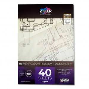 Zieler A3 Thick Tracing Paper Pad 112gsm