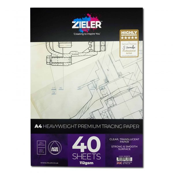Zieler A4 Thick Tracing Paper Pad