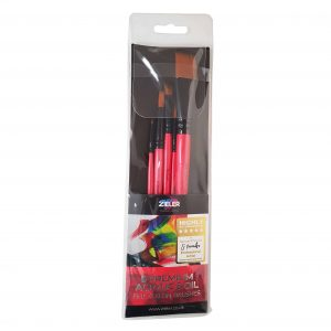 Zieler 5 Premium Acrylic & Oil Artists Brushes