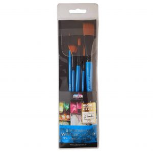 Zieler 5 Premium Watercolour Artists Brushes