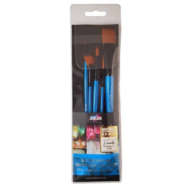 Zieler 5 Premium Watercolour Artists Brushes