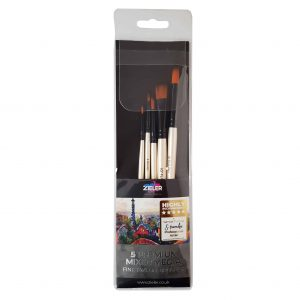 Zieler 5 Premium Mixed Media Artists Brushes