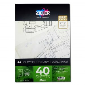 Zieler A4 Thin Tracing Paper Pad 63gsm