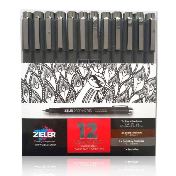 Zieler Fineliner Drawing Pens