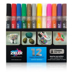 Zieler 12 Paint Marker Pens 1.5mm