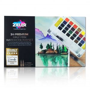 Zieler Half Pan Watercolour Set