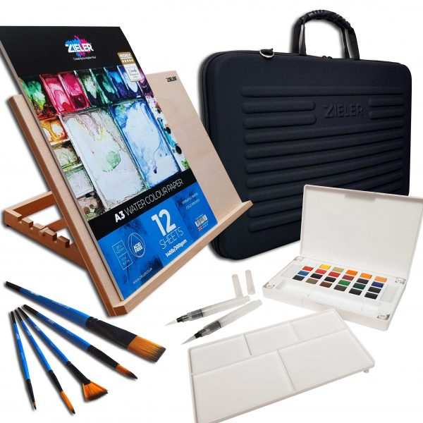A3 Easel Watercolour Set