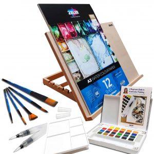 Zieler A3 Easel & Watercolour Gift Set