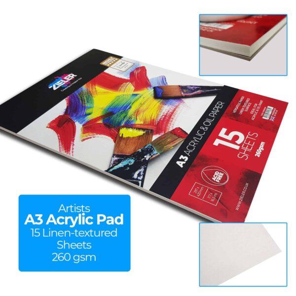 A3 Easel Acrylic Set