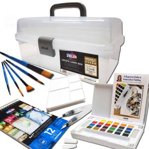 Zieler Watercolour Gift Set with Caddy Box