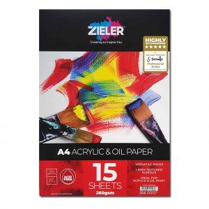 Zieler A4 Acrylic & Oil Paper Pad