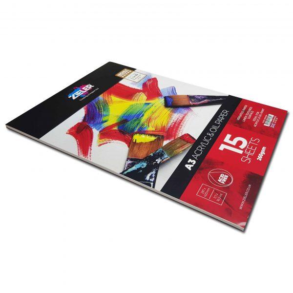 A4 Acrylic & Oil Pad Textured 260gsm, 15 sheets - Zieler Art Supplies