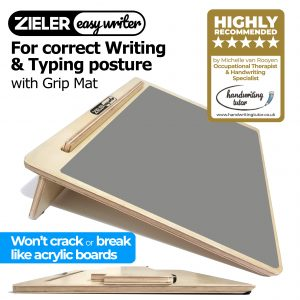 Zieler Easy Writer Wooden Writing Slope with Grip Mat