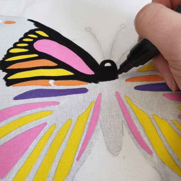 drawing with paint pens