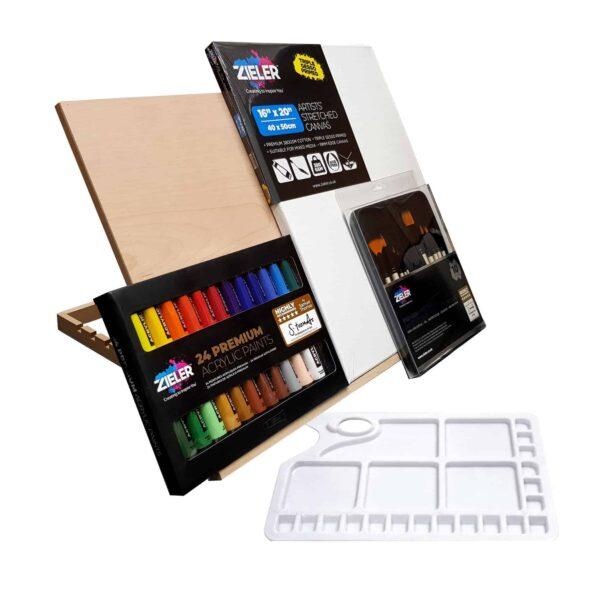 A2 Acrylic Paint Canvas Bundle 2 - Zieler Art Supplies