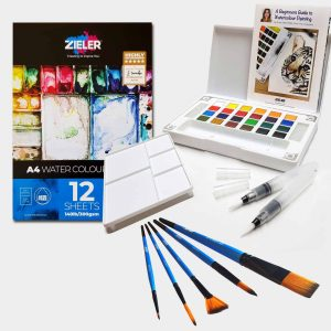 Zieler Watercolour Starter Gift Set with Pad and Brushes