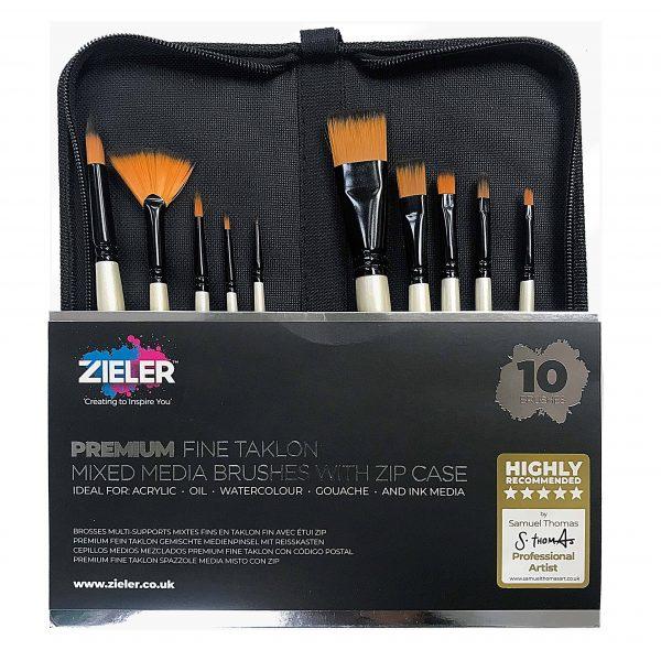 Zieler Premium Zip Case Brush Set Scaled - Zieler Art Supplies