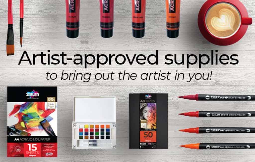 Zieler Art supplies banner
