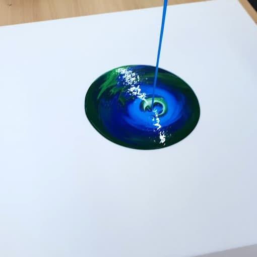 Acrylic Paint Pouring At Zieler