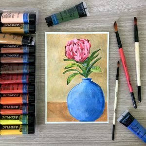 Learn Painting Flowers With Acrylics