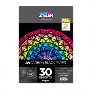 Zieler A4 Black Cartridge Carbon Paper Pad