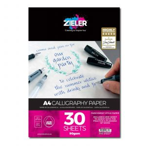 Zieler A4 Calligraphy Paper Pad Parchment Style