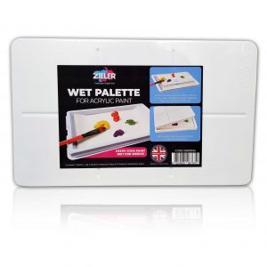 Zieler Keep Wet And Stay Wet Acrylic Paint Palette
