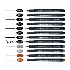 Zieler Single Fineliner Drawing Pens