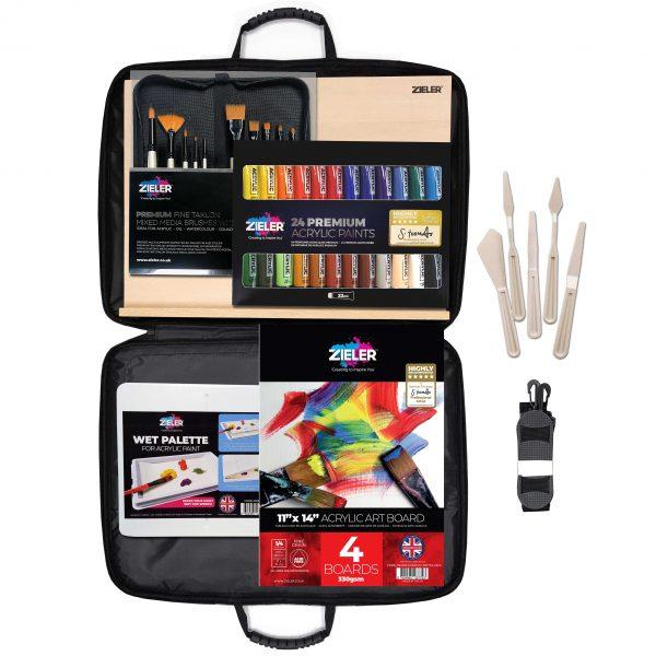 Acrylic Masterclass Set Zieler Scaled - Zieler Art Supplies