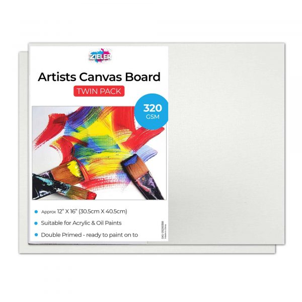 Canvas Board 12X16 Zieler - Zieler Art Supplies