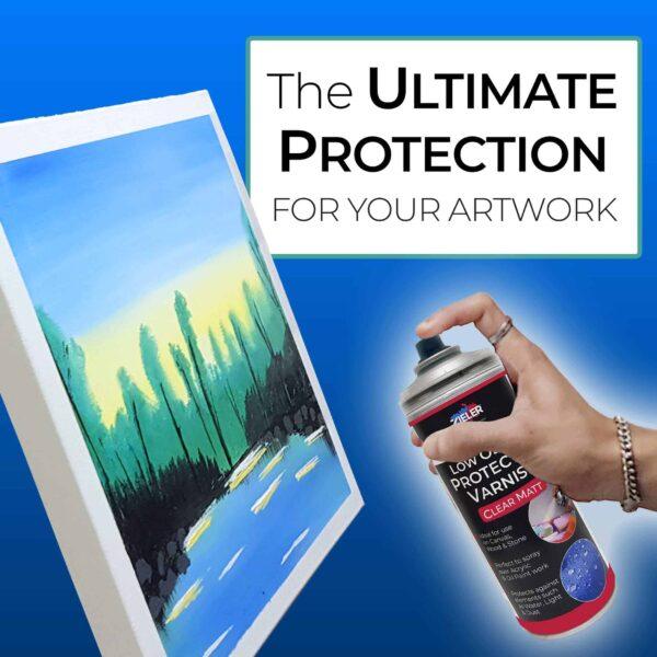 2 Varnish Spray Matt Protect - Zieler Art Supplies