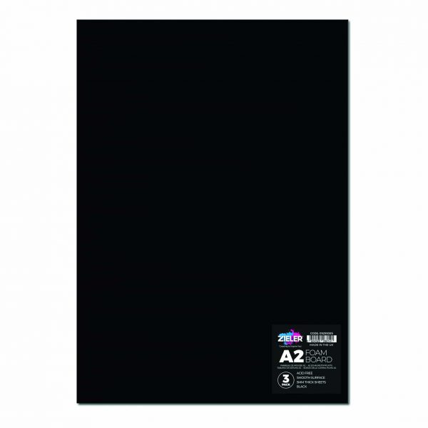 A2 Foam Board Black