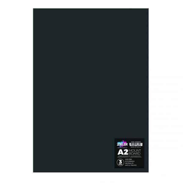 A2 Mount Board Black 09299378 - Zieler Art Supplies