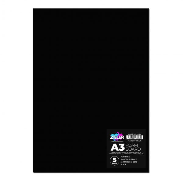 A3 Foam Board Black - Zieler Art Supplies