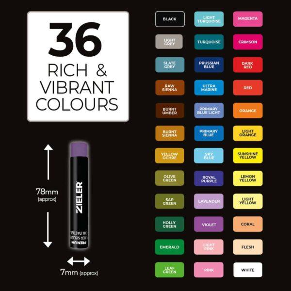 4 36 Colours - Zieler Art Supplies