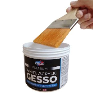 Gesso With Paint Brush